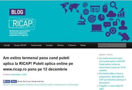 Antreprenorii din tehnologie se pot inscrie pana pe 12 decembrie in programul de accelerare Ricap
