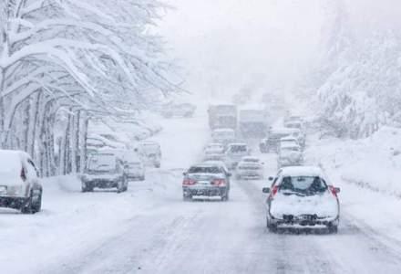 Autostrada A2 Bucuresti-Fetesti si drumuri nationale din 4 judete, inchise din cauza zapezii