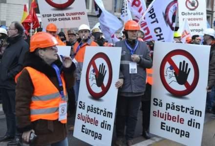 Otelarii europeni au protestat la Bruxelles impotriva importurilor din China