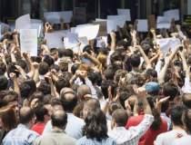 Incidente la protestul...