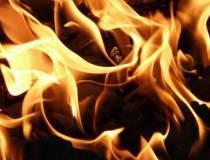 Incendiu pe stadionul Cluj...