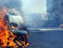 Un vehicul-capcana a explodat...