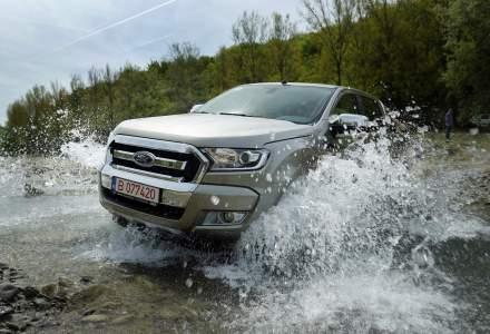 "Test ""in linie dreapta"" cu Ford Ranger facelift prin padurile din Prahova"