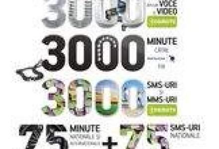 Utilizatorii de cartele Cosmote primesc 3.000 de minute si mesaje pentru 5 euro pe luna