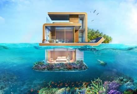 Dubai a construit prima vila plutitoare in mijlocul oceanului, unde va aparea un complex rezidential si strazi cu ploaie si ninsoare la comanda