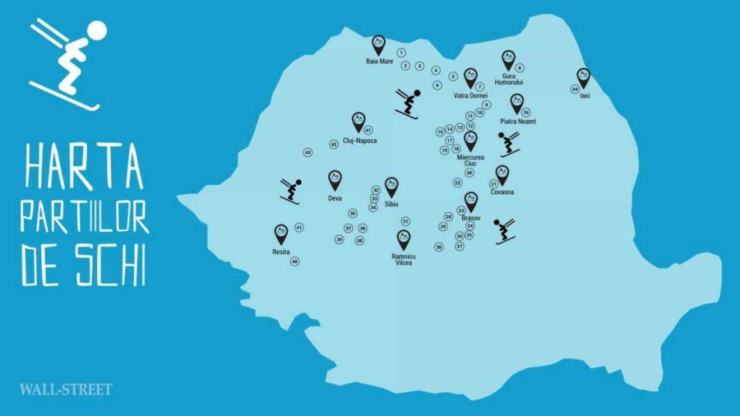 Harta Partiilor De Schi Unde Schiezi Cel Mai Ieftin In Romania