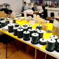 Un birou senzorial: Tone de cabluri in podea si un glob disco - Foto 26