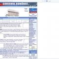 Site-ul Guvernului Romaniei in 2003 si astazi - Foto 1 din 2