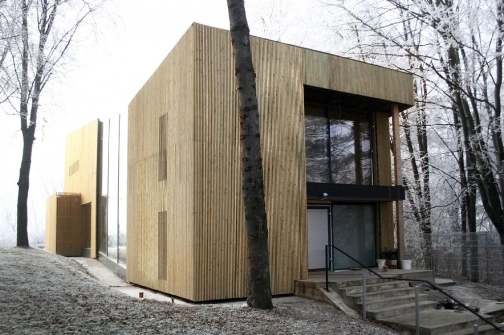 Casa pasiva din padure cu hamac si gazon in interior: consuma putina energie - Foto 1 din 12