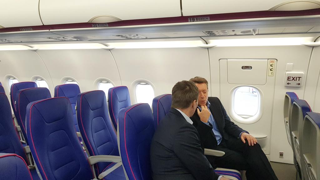 [Galerie foto] Cum arata cel mai nou avion Airbus din flota Wizz Air - Foto 7 din 19