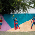 GALERIE FOTO Bacaul, orasul cu cele mai multe picturi murale care purifica aerul din Europa - Foto 8