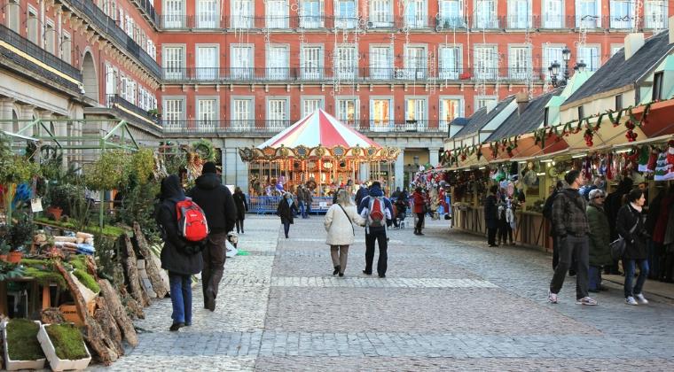 Mercado de Navidad - Madrid, Spania