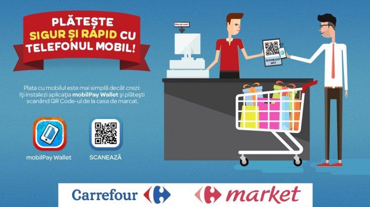 NETOPIA mobilPay introduce platile cu portofelul digital in magazinele Carrefour din toata tara