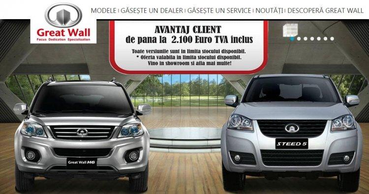 Alexandros Motors scade preturile cu 2.100 euro pentru SUV-ul Great Wall H6 si pick-up-ul Steed5