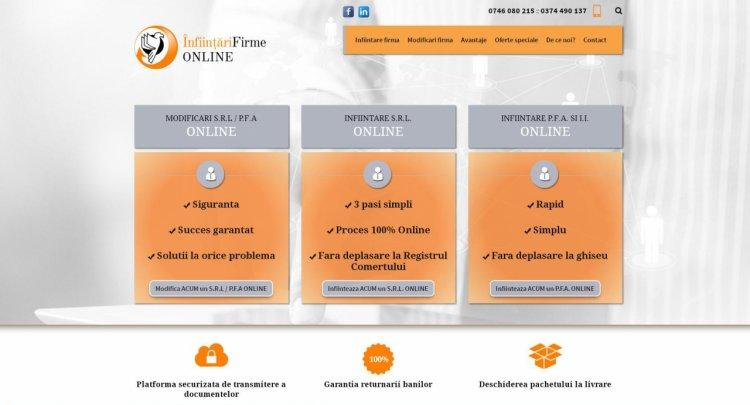 S-a lansat infiintarifirmeonline.ro, platforma care face posibila infiintarea si modificarea unei firme online