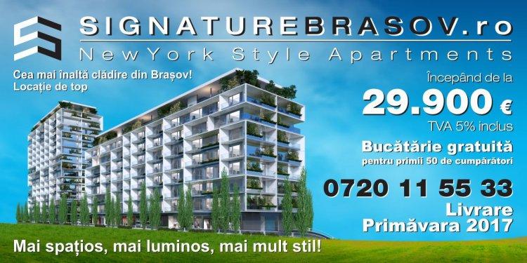 Signature Brasov- cel mai atractiv proiect imobiliar al Brasovului!