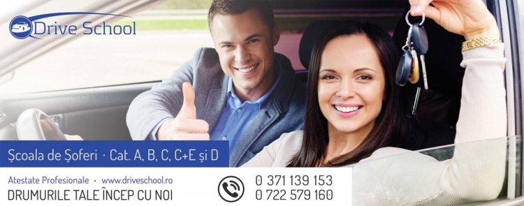 Cum sa inveti mai usor pentru examenul auto? Scoala de soferi Drive school