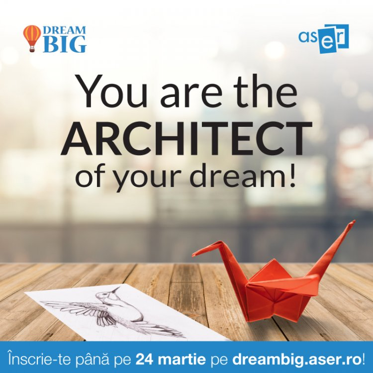 You are the architect of your dream!