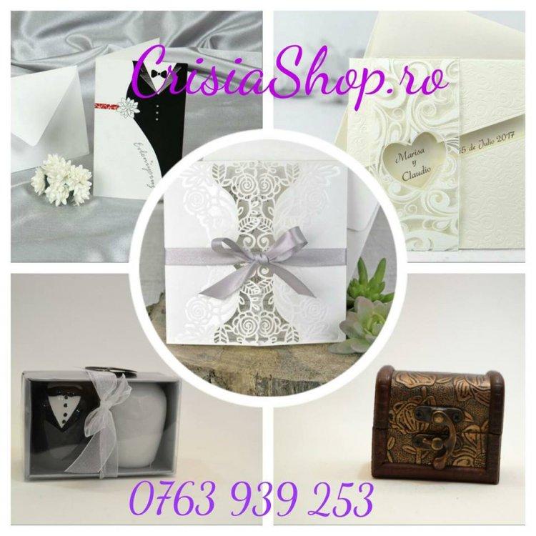 Crisia Shop ofera cele mai frumoase invitatii de nunta