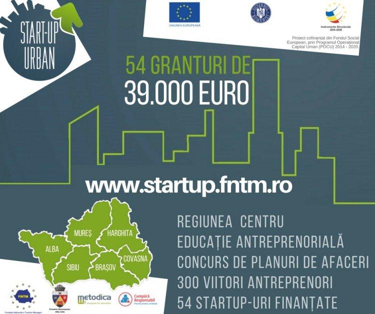 Granturi de 39.000 euro isi cauta idei de afaceri in Regiunea Centru