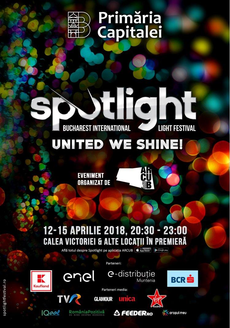 Coregrafie spectaculoasă de lumini și dans în deschiderea oficială SPOTLIGHT