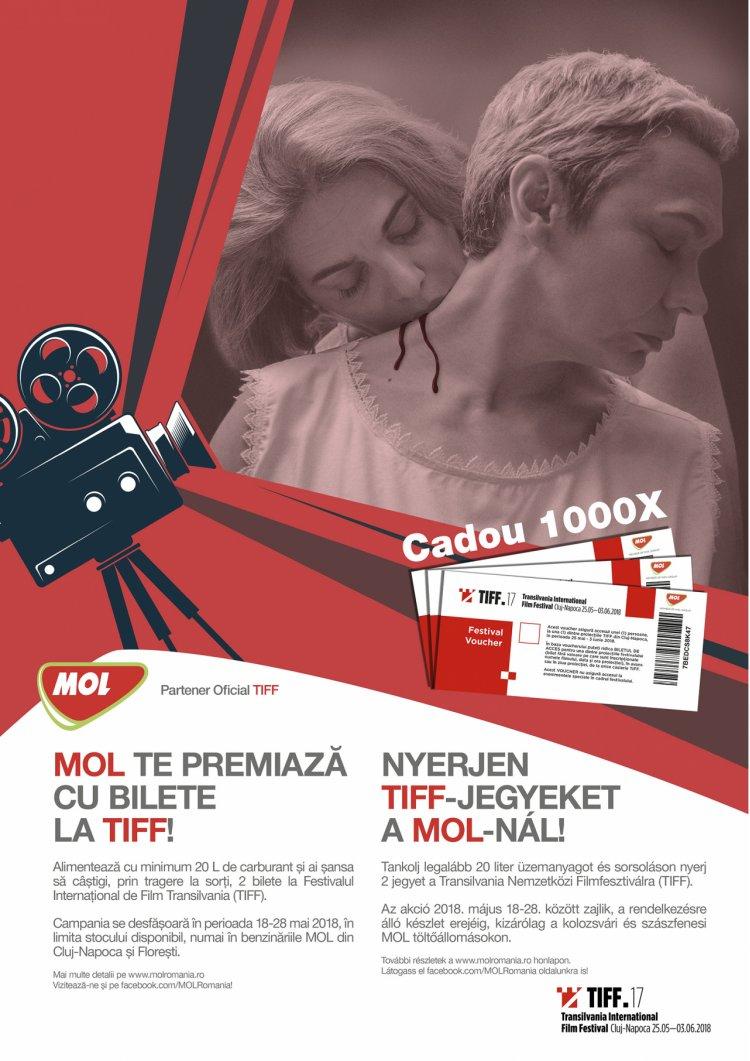 MOL România susţine spiritul creativ în cadrul TIFF, pentru al cincilea an consecutiv