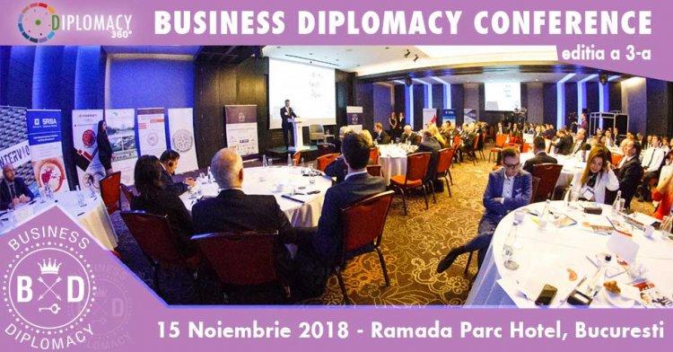 Diplomati si lideri de business din tara si strainatate se vor reuni la Bucuresti in data de 15 noiembrie 2018