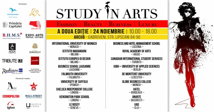 STUDY IN ARTS, business meets arts la cea de-a doua editie a singurului targ educational specializat din Romania