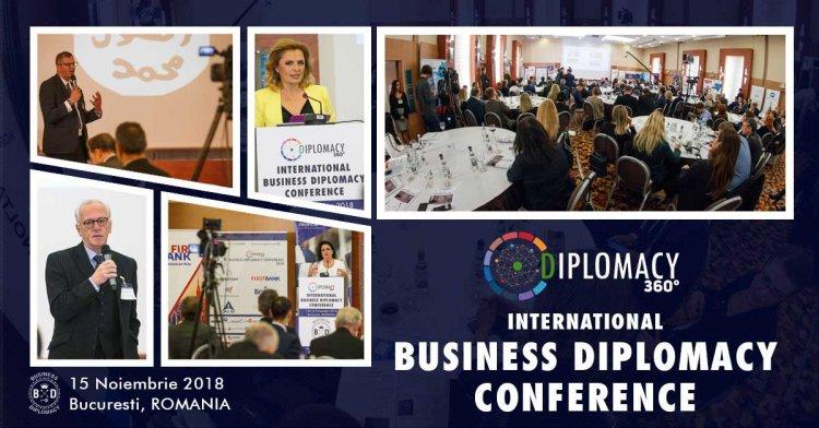 Peste 200 de participanti din 25 tari au participat la cea de-a treia editie a Conferintei Internationale de Business Diplomacy
