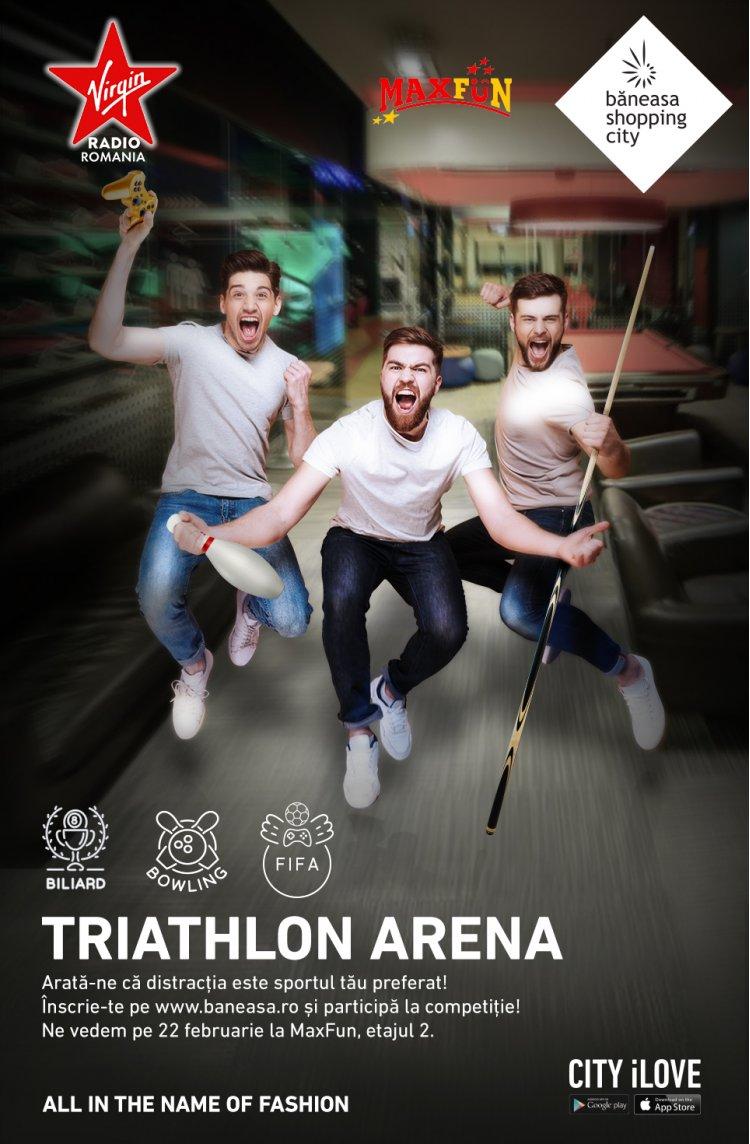 Începe Triathlon Arena - o competiție de FIFA19, biliard și bowling, în Băneasa Shopping City