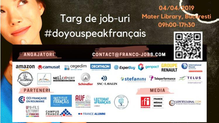 Târg de cariere #doyouspeakfrancais marca Franco-jobs.com pe 4 aprilie 2019 la București