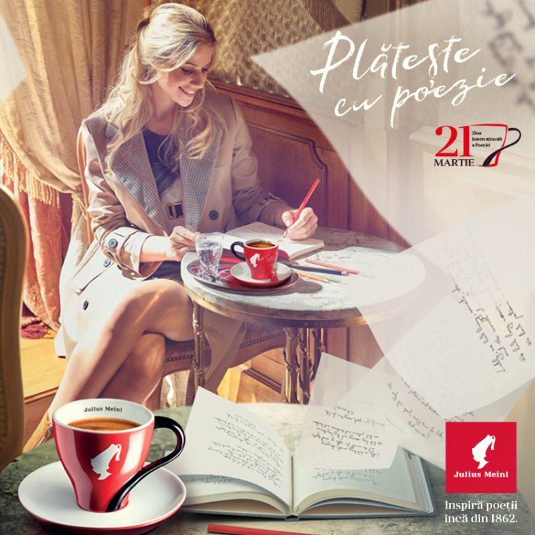 Pe 21 martie, îți plătești cafeaua cu o poezie