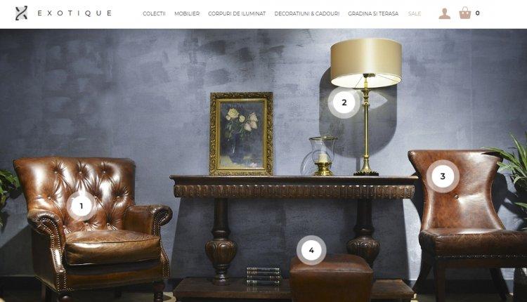Exotique, brand-ul de mobilier de lux, a lansat noul site