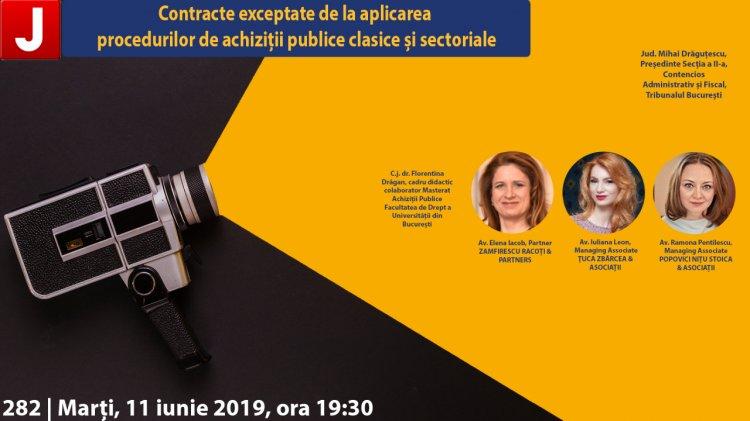 Contracte exceptate de la aplicarea procedurilor de achiziții publice clasice și sectoriale