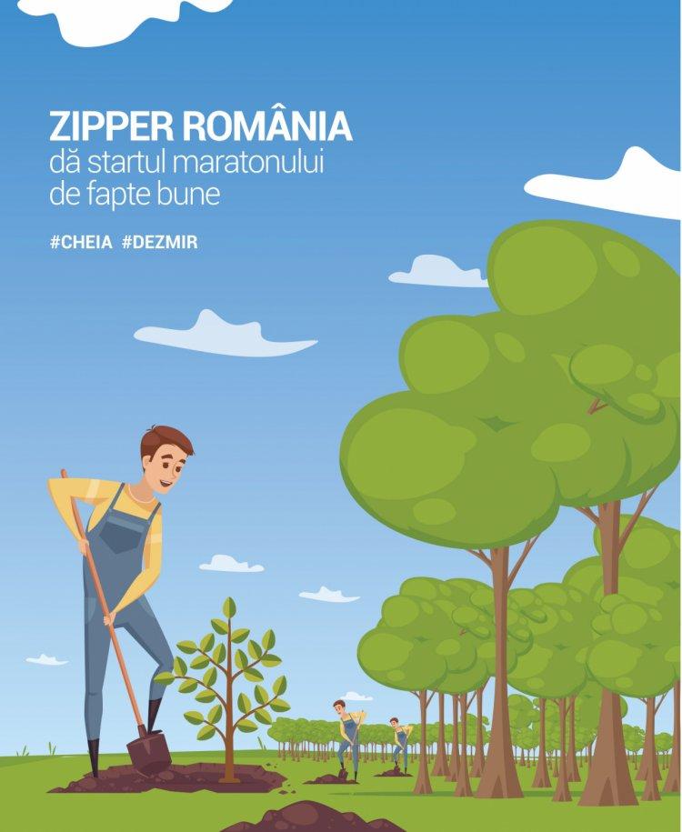 Angajații Zipper și-au unit forțele și plantează împreună la Cheia și Dezmir