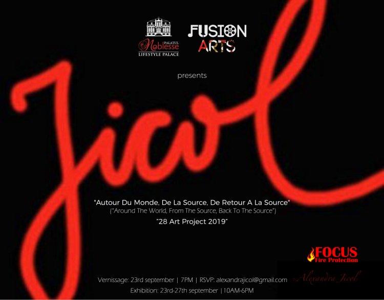 Fusion Arts și Palatul Noblesse prezintă prima expoziție de artă in Romania a artistei internaționale Alexandra Jicol