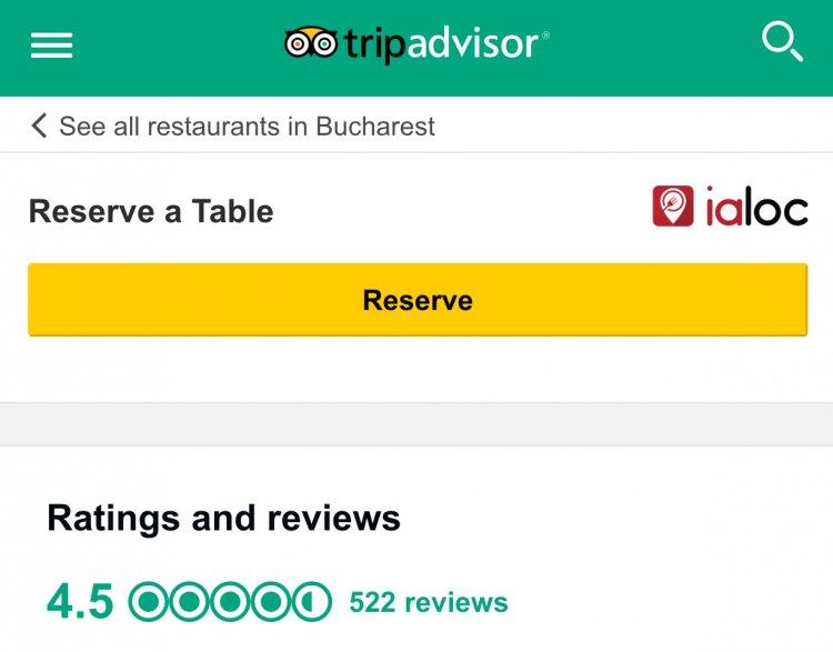 Ce Inseamna Parteneriatul TripAdvisor - ialoc pentru Restaurantele din Romania
