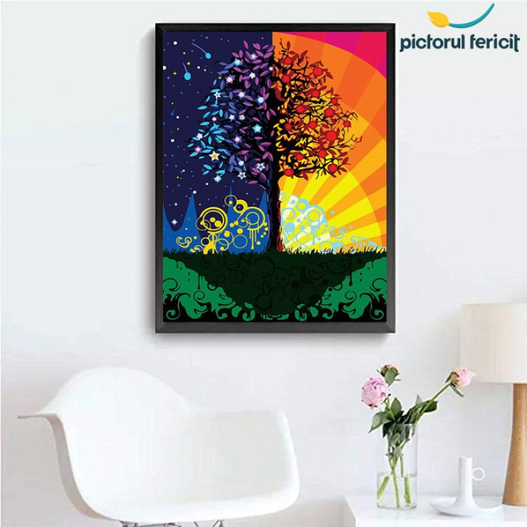 Picturi pe numere - o activitate terapeutica sustinuta de Pictorul Fericit