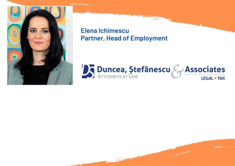 DUNCEA, ŞTEFĂNESCU & Asociaţii anunță promovarea av. Elena Ichimescu în poziția de Partener al societății