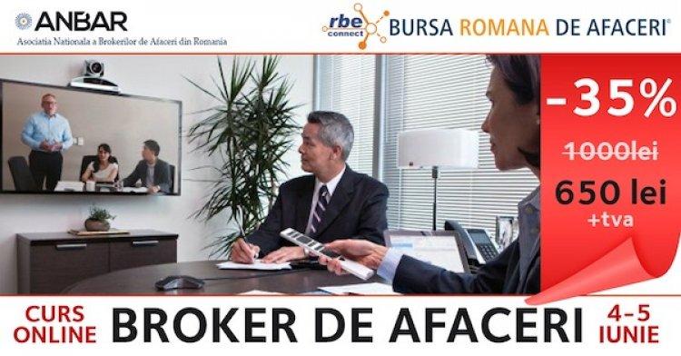 Participa la Cursul Online interactiv de Brokeraj de Afaceri organizat de Bursa Romana de Afaceri