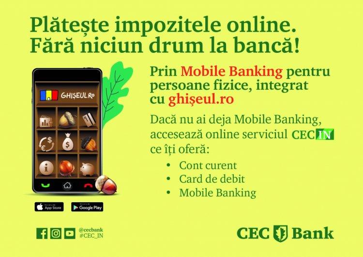 Cu CEC Bank, taxele și impozitele locale pot fi plătite direct de pe telefonul mobil
