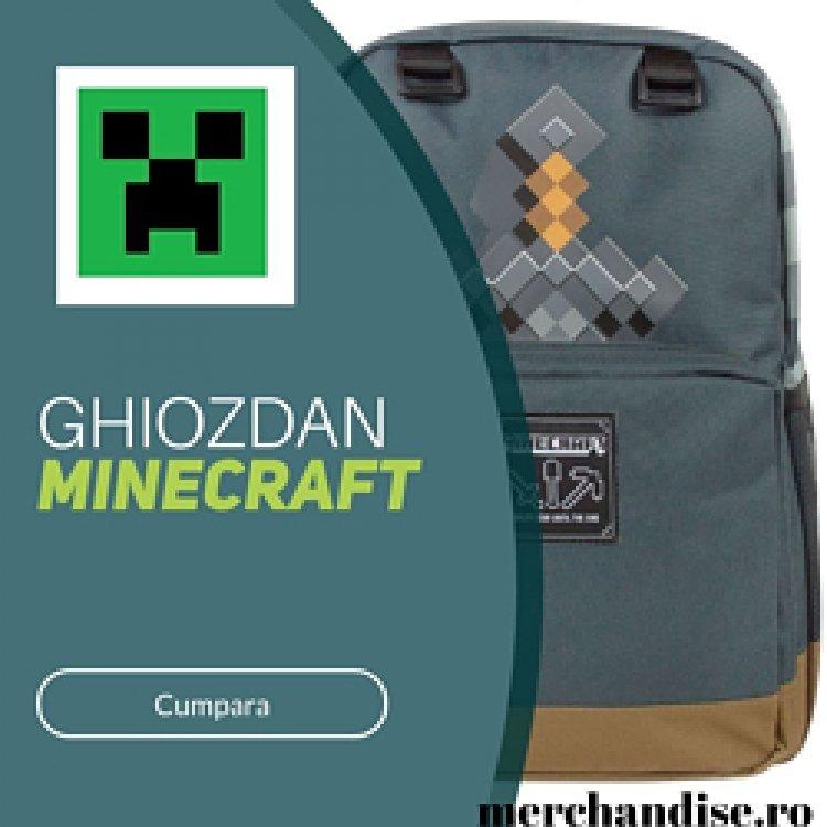 Ghiozdane originale Minecraft
