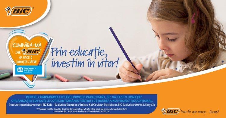 BIC anunță parteneriatul cu SOS Satele Copiilor, cu ocazia începerii nou an școlar 2020 – 2021