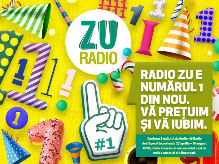 Radio ZU este radioul comercial NUMĂRUL 1 în București