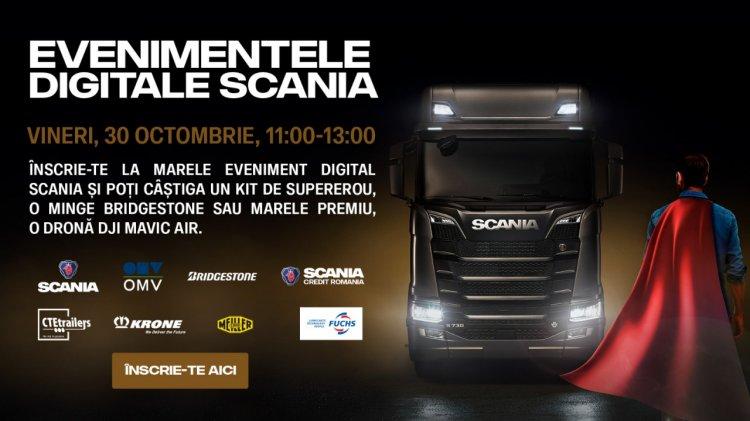 Caravana Scania 2020 - un nou eveniment online găzduit de liderii transportului rutier de marfă
