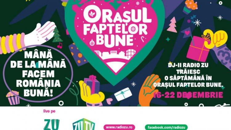 Orașul Faptelor Bune se întoarce la kilometrul zero. Radio ZU se mută deasupra Bucureștiului ca să fie aproape de România