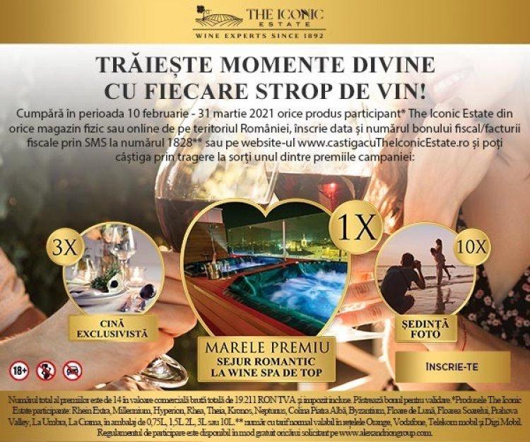 Trăiește momente divine cu fiecare strop de vin The Iconic Estate