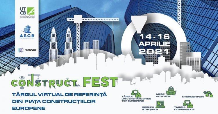 ConstructFest, târgul european dedicat construcțiilor se desfășoară în perioada 14-16 aprilie 2021