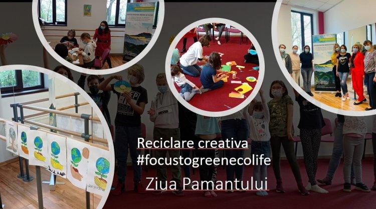 Reciclare creativă #focustogreenecolife dedicată Pământului