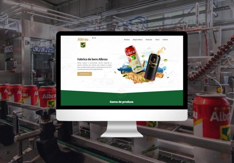 Justpixel lansează noul site al fabricii de bere Albrau